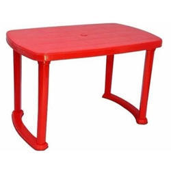 Red Rectangular Plastic Dining Table, for Home