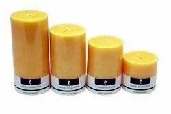Sandlewood Scented Pillar Candle Set