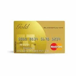 Double Sided Gold Credit Card, Size: 85x54mm