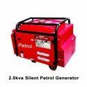 Air Cooled 2.5 Kva Silent Petrol Generator, Voltage: 230 V