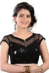 Black Party Wear Designer Blouse