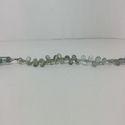Natural Multi Moss Aquamarine Pear Smooth Plain Briolette Beads