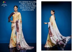 Rachna Crepe Silk Digital Printed Serene Paula Catalog Saree For Women 2
