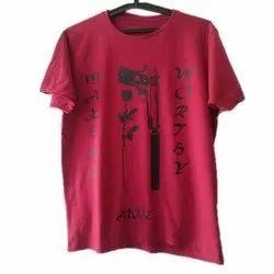 S-XXL Cotton Mens Designer Half Sleeve T Shirt, Packaging Type: Packet