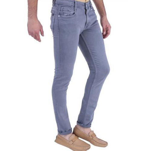 Cotton Grey Stretchable Jeans