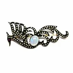 Rainbow Moonstone Brooch