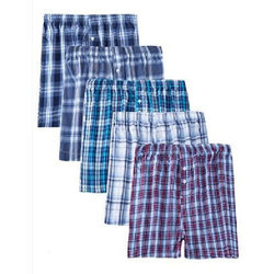 Men's Cotton Checked Pattern Shorts, Size: S - XL