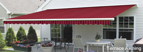 PVC Coated Pyramid Terrace Awning
