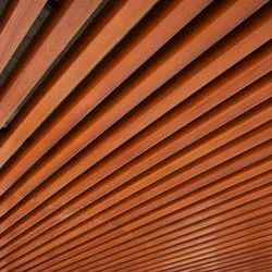 Wooden Baffle Metal Ceilings