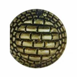 Brown Round 50mm Plastic Coat Button for Garments, Packaging Type: Packet