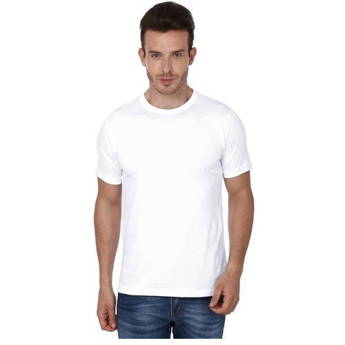 01c6a4f9 Mens Polyester White Plain T Shirt, Size: S To XXL, Rs 90 /piece ...