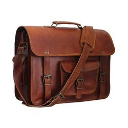 Leather Messenger Shoulder Laptop Bag