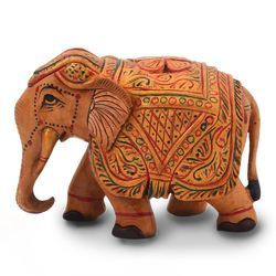 Wooden Painted Elephant Handicraft 153