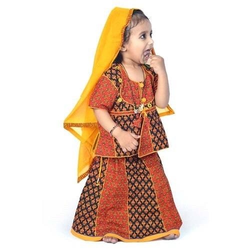 1f86a2ba33 Kid Apparels - Rajasthani Booti Work Lehenga Kurti 103B Manufacturer from  Jaipur