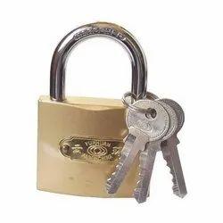 Yun Huan Polished Copper Door Padlock for Security
