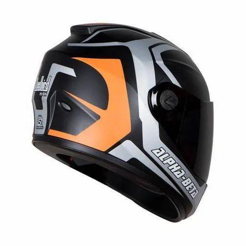 44e4cfab ABS Plastic Steelbird HIGN Vision Apha Beta Orange Helmet, Rs 1899 ...
