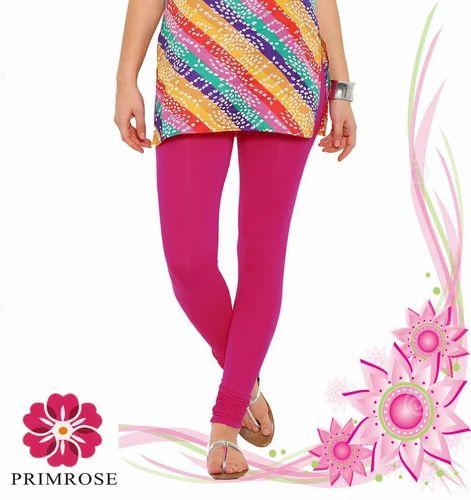 52c727681e1c1f Pink Plain Cotton Lycra Leggings, 4-Way Stretchable, Bio Washed, High  Quality