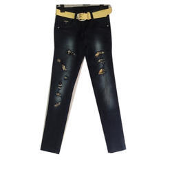 Stretchable Comfort Girls Designer Jeans, Waist Size: 28 And 32