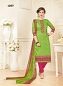 Cotton Satin Embroidered Casual Salwar Kameez