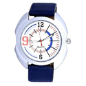 Quartz Leather Strap Fancy Analog Men Wrist Watch