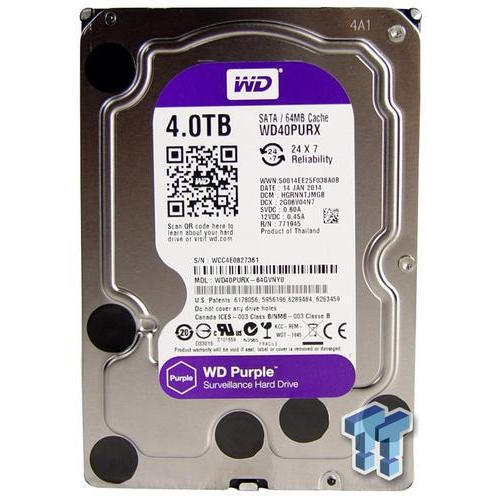 Hdd Wd Purple Surveillance Hard Disk 4 Tb Rs 10500 Piece