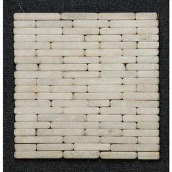 White Pebbles Fountain Mosaic