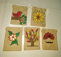 Hand Printed Jute Pouch