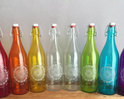 Coloured Drinking Glass Bottle