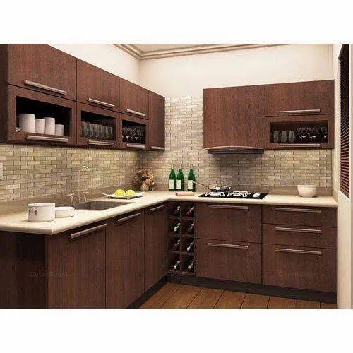 Mdf Board U Shape Mdf Modular Kitchen Kitchen Cabinets Rs 1000 Square Feet Id 20843355455
