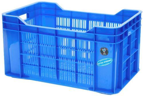 Mesh And Solid Box Cuboid Plastic Banana Crate