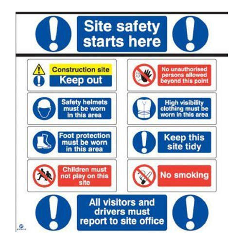 Construction Site Boards: Electrical Safety Sign Board, सुरक्षा साइनेज