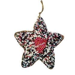Star Embroidery X-Mas Decoration