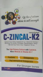 Calcium Citrate 1000 Mg  Calcitriol 0.25 Mg   Vitamin K2-7-50 Mcg Epa 90 Mg,  Zinc 22.5 Mg  Dha 60 M