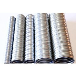 Silver Stainless Steel Corrugated Round Ducts, for Office Use