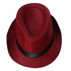 Red Jute Men Hat