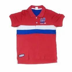 Casual Wear Kids Boy Half Sleeve Collar T Shirt