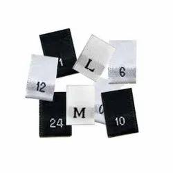 Woven Black, White Size Label, Packaging Type: Carton Box