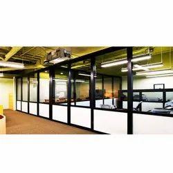 Aluminium Office Glass Partition