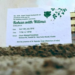 Seed Paper Wedding Card
