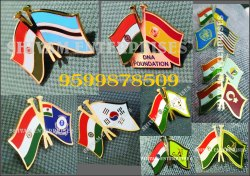 Cross Flag Pins