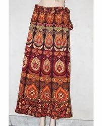 Rajasthani Printed Rapron Skirt