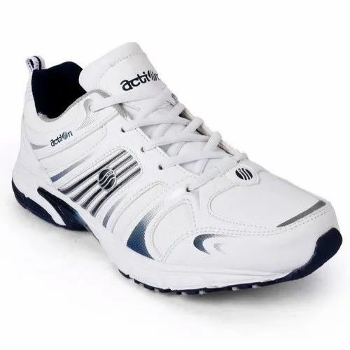White Mens Action Shoes Running Shoes, Size: Also Available 7-10