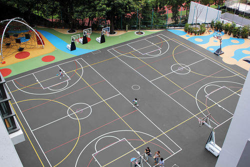 Rubber And EPDM Rubber Sports Flooring