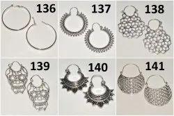 Brass Silver Earring