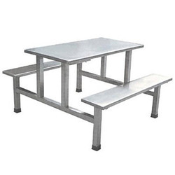 6 Seater Stainless Steel Canteen Table, For Industrial