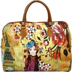 Sanchi Creation Pu Leather Women's Printed Shoulder Bag, For Casual Wear, 0.2 Kg