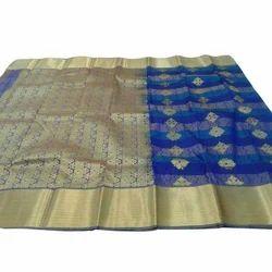 Emroidered Silk Saree, 5.5 M (separate Blouse Piece)
