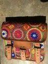Hand Bag Women Leather Banjara Bags, Size: 16 X 8.5 Cm