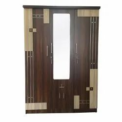 Woodline Creation Engineered Wooden Three Door Bedroom Wardrobe