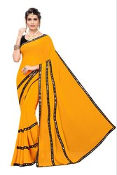 MIRROR WORK GEORGETTE SAREE